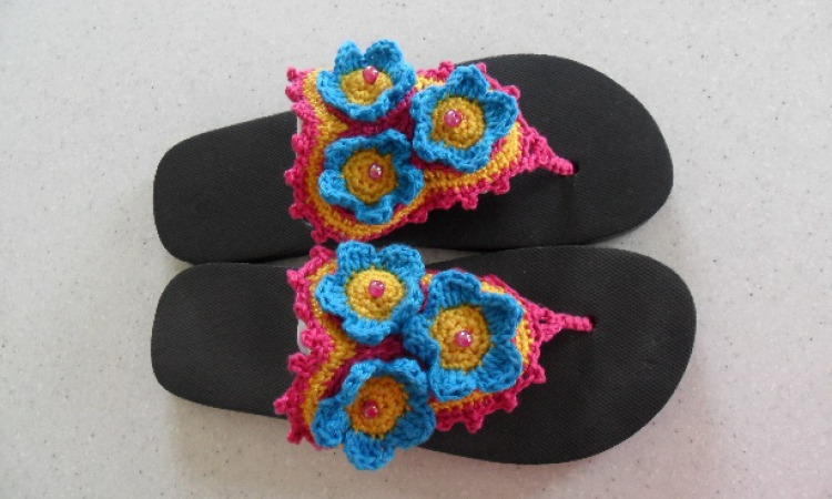 Zomerse teenslippers